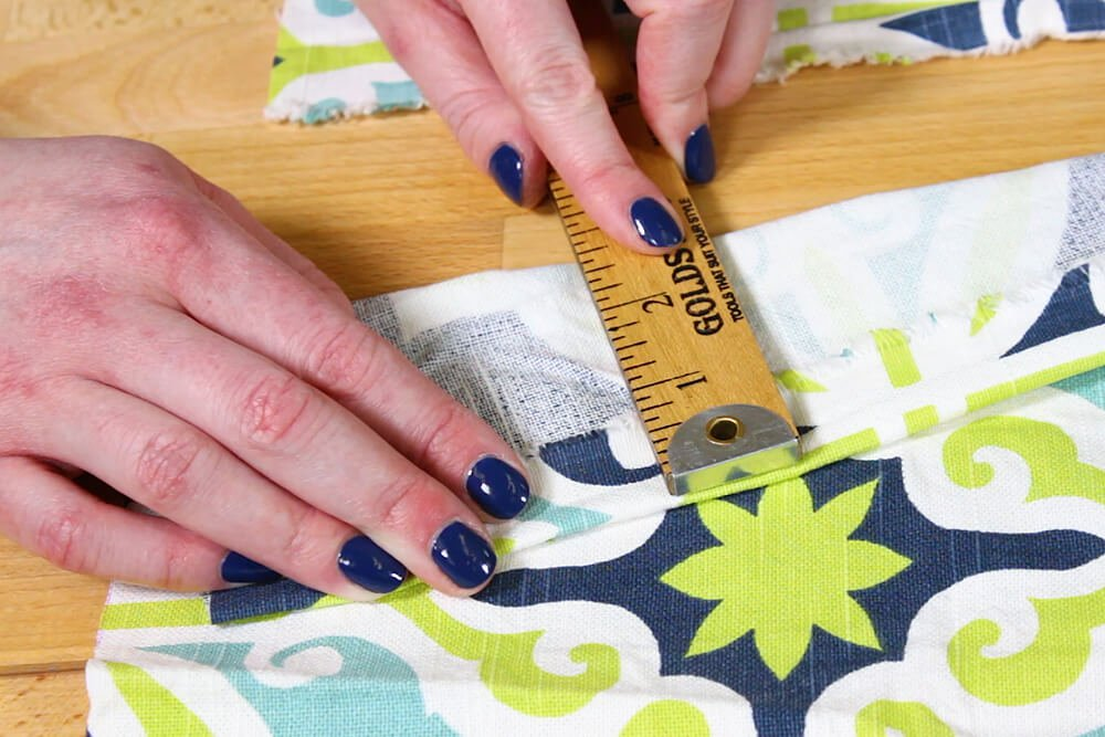 Duvet Cover - Measure the amount folded under