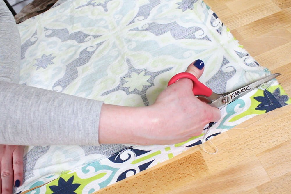 Duvet Cover - Cut off any extra fabric