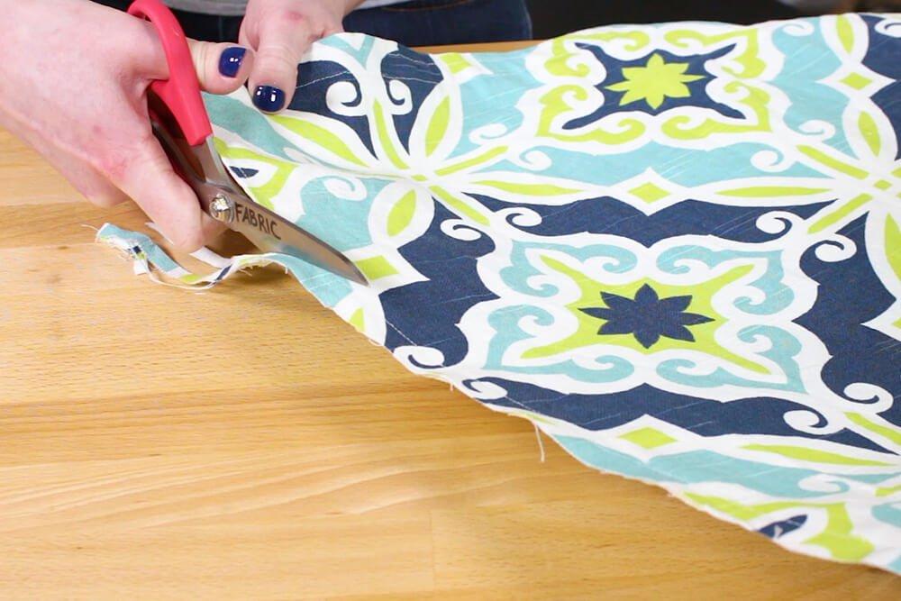 Duvet Cover - Cut edges down to less than 1/4 inch