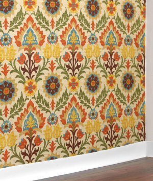 How to Make Fabric Wallpaper