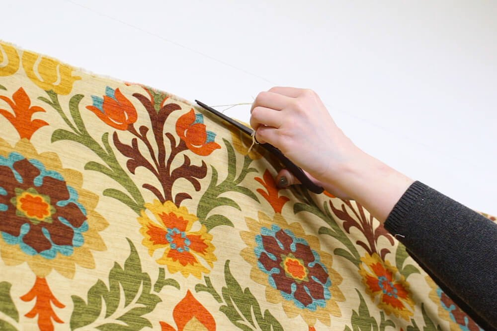 Fabric Wallpaper - Trim threads