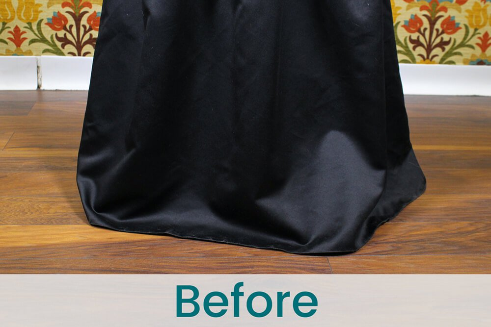How to Hem a Layered Dress - Before
