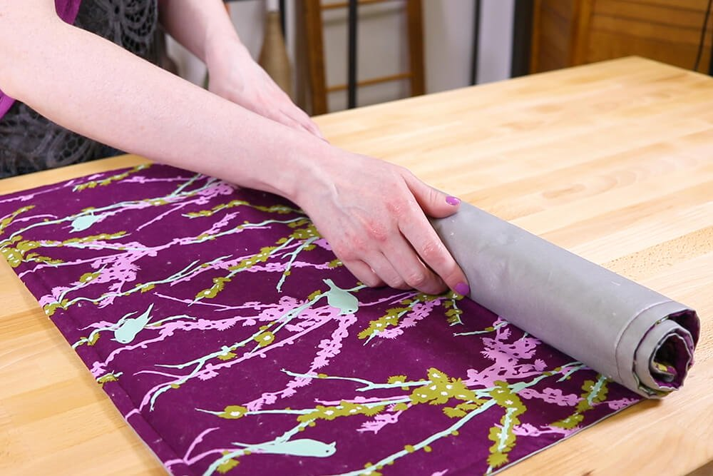 How to Make an Ironing Mat - Add twill tape or ribbon