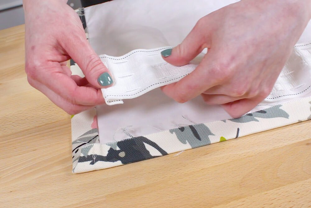 Pencil Pleat Curtains - Fold under the end of the tape