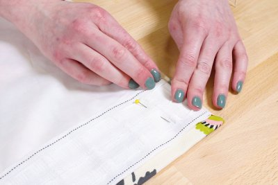 Pencil Pleat Curtains - Fold under end