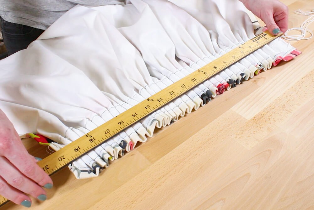 Pencil Pleat Curtains - Pull until you get to your desired finished width