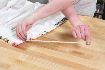 Pencil Pleat Curtains - Twist the strings and fold in half