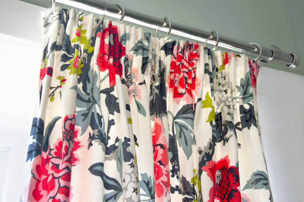Pencil Pleat Curtain Panel - Closed