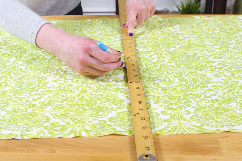 Flanged Pillow Sham - Measure and cut the back in half
