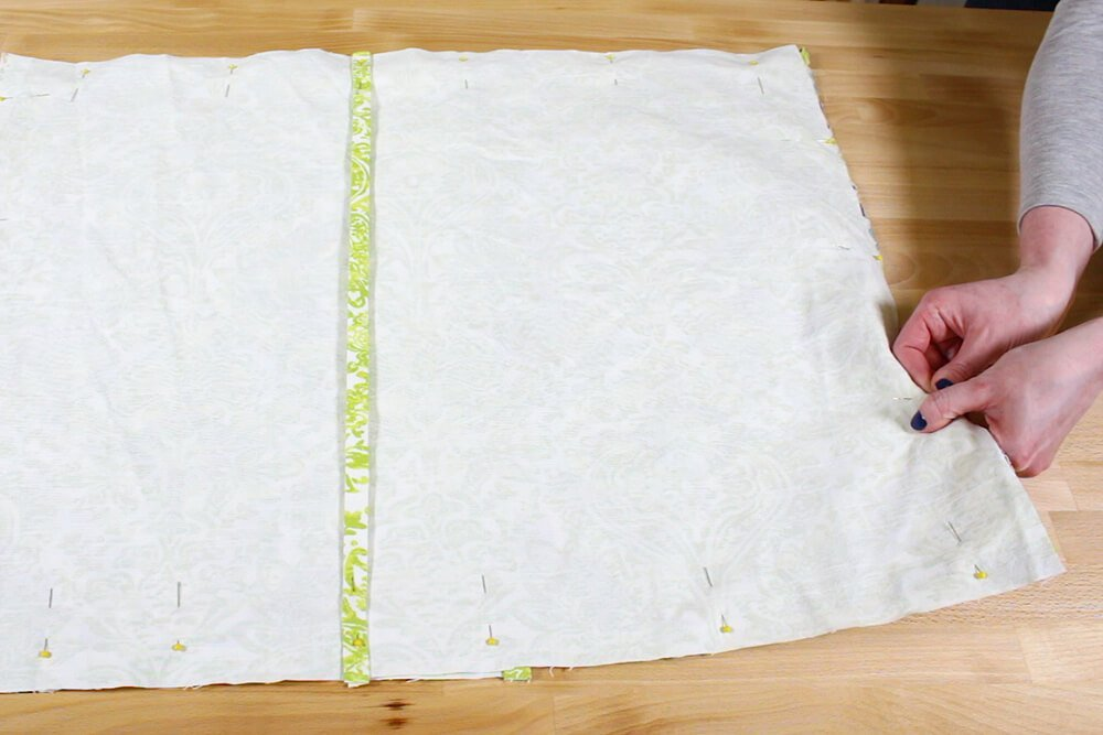 Flanged Pillow Sham - Pin in place