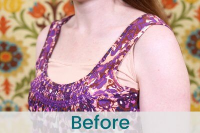 How to Adjust Tank Top Straps - Before