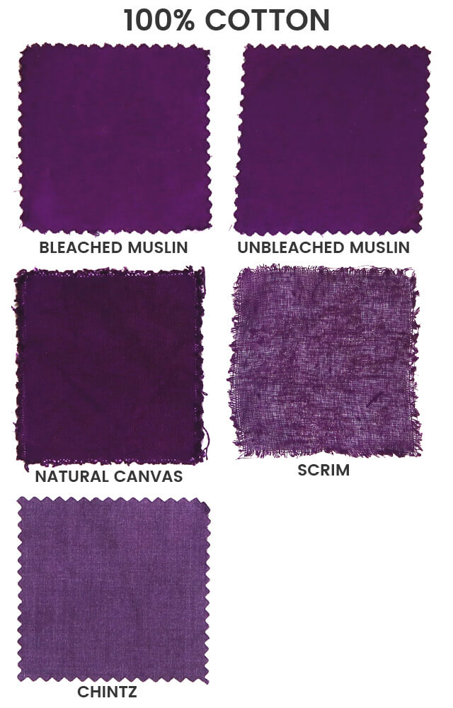 Cotton Blends Dyed With Salt