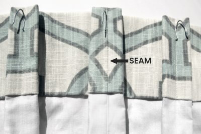 Inverted Box Pleat Curtains - Seam on back of pleat