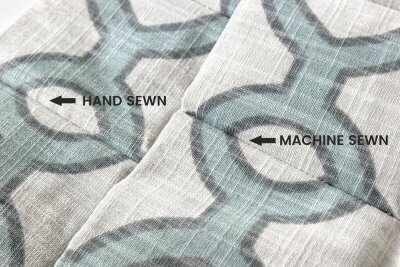 Inverted Box Pleat Curtains - Difference between hand sewn and machine sewn