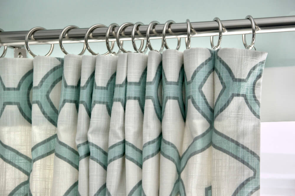 Inverted Box Pleat Curtains - Stacked pleats