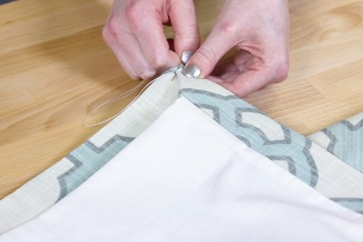 Inverted Box Pleat Curtains - Sew with hidden stitch