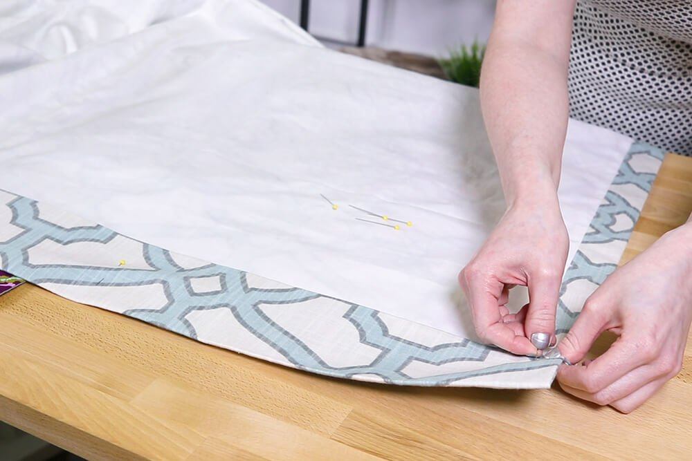 Inverted Box Pleat Curtains - Pin heading