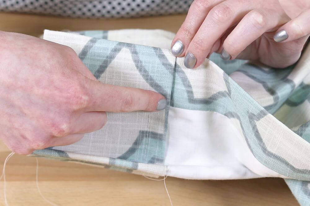 Inverted Box Pleat Curtains - Sew up to lining on back