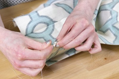 Inverted Box Pleat Curtains - Use an invisible stitch