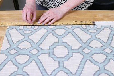 Inverted Box Pleat Curtains - Mark and cut length