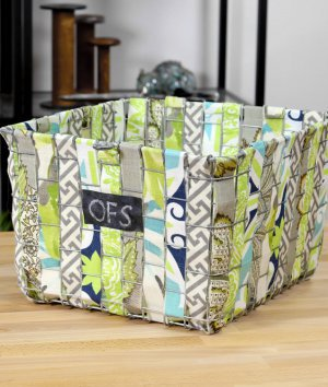 How to Make a Fabric Woven Wire Basket