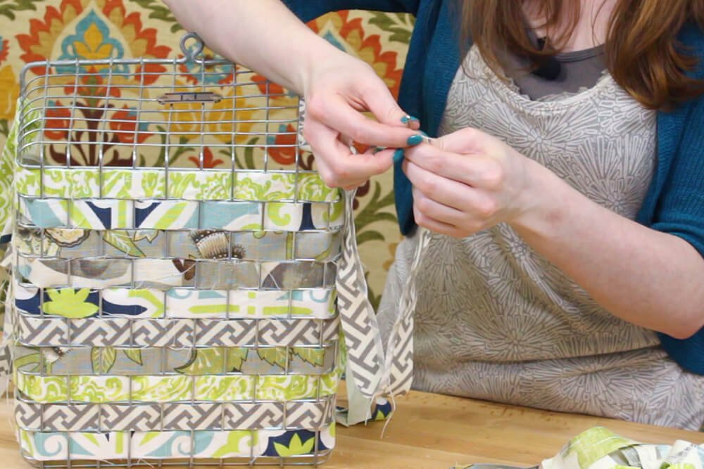 Fabric Woven Wire Basket - Attach a safety pin