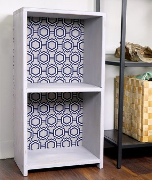 How to Make a Fabric Backed Wooden Shelf