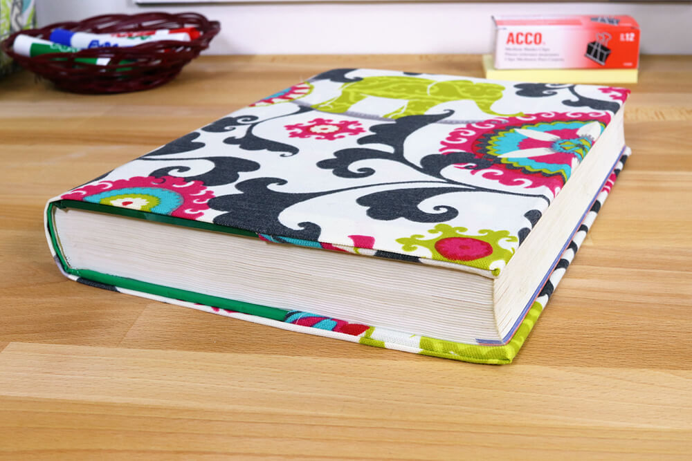 Fabric Book Cover - Finished 1