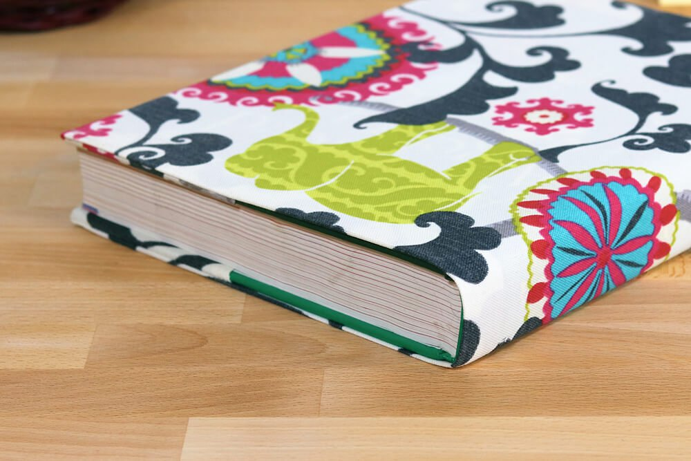 How To Make A Book Cover Out Of Fabric ~ How to make a fabric book cover ofs maker s mill