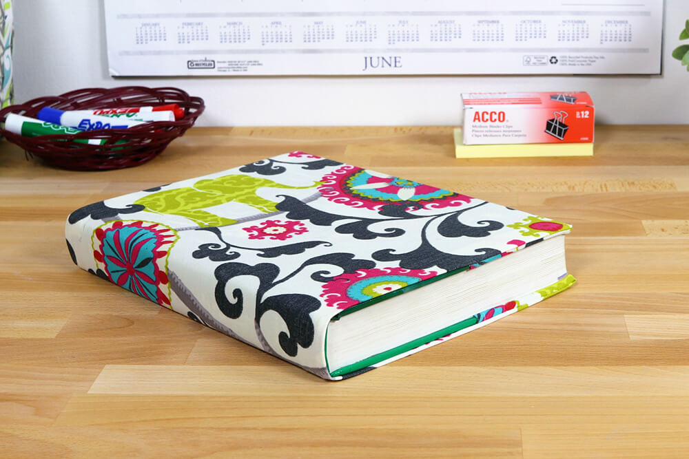 Fabric Book Cover - Finished 4