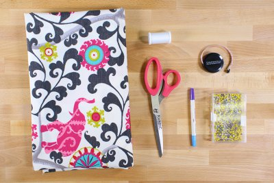 Fabric Book Cover - Materials