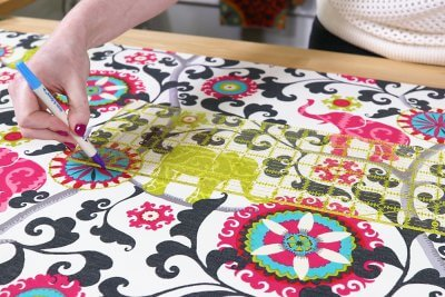Fabric Book Cover - Measure a piece that's 8 inches wider and 2 inches taller