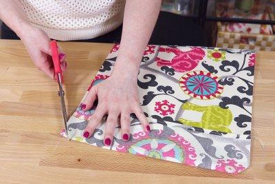 Fabric Book Cover - Clip corners