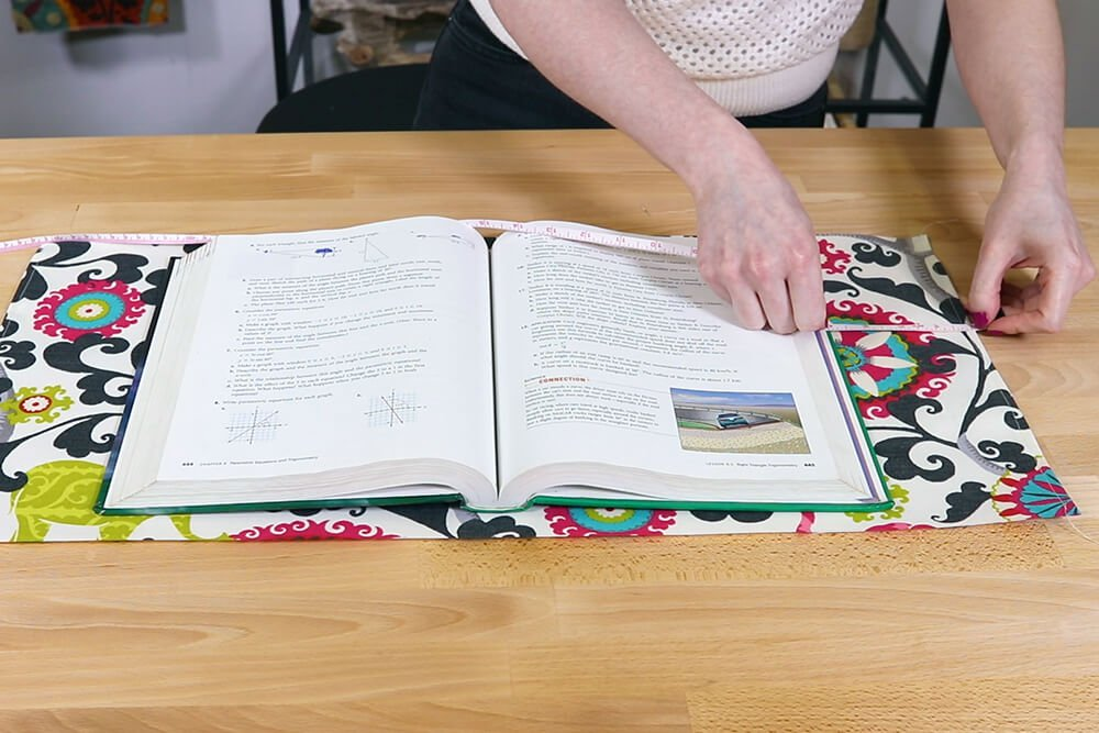 Fabric Book Cover - Center the book