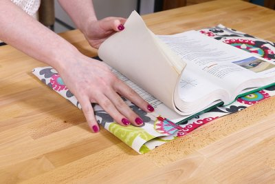 Fabric Book Cover - Fold the ends in