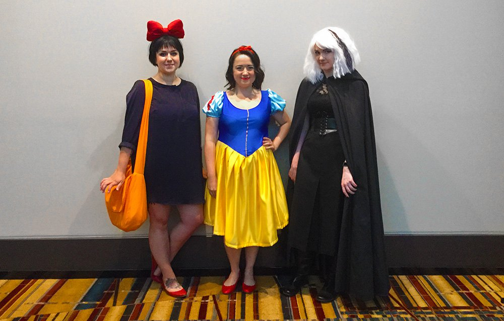 Cathy, Jen, and Clara at ConnectiCon