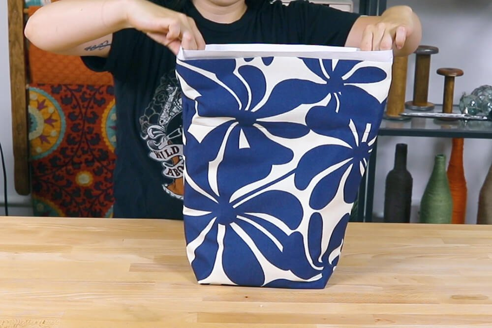 How To Make a Lunch Bag - Step 4: Insert the lining