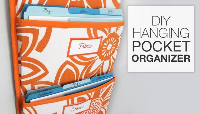 How To Make a Hanging Pocket Organizer