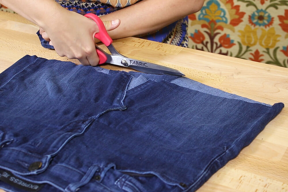 How To Upcycle Jeans Into a Skirt
