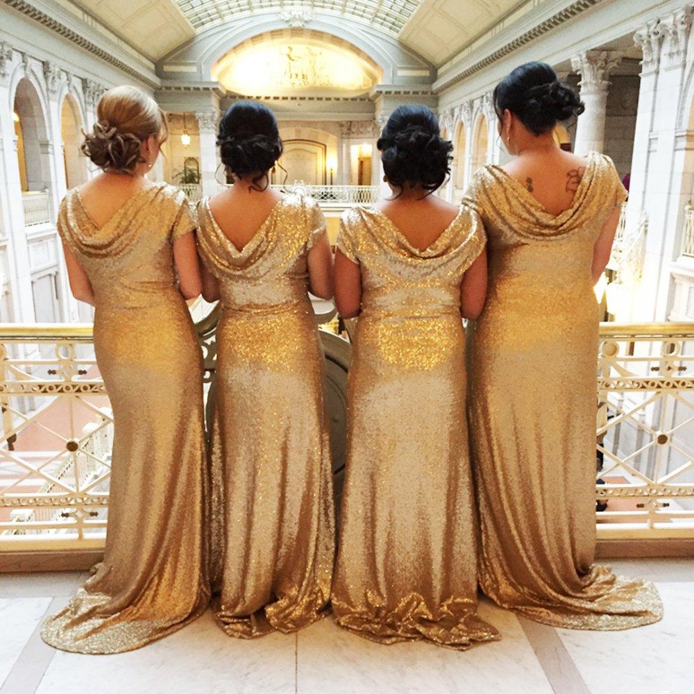 Bridesmaid dresses - back