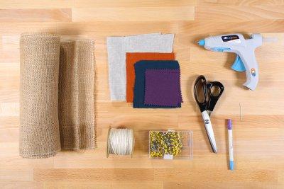 Burlap Table Runner - Materials