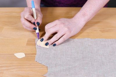 Burlap Table Runner - Trace around templates