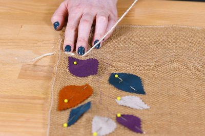 Burlap Table Runner - Make a stitch