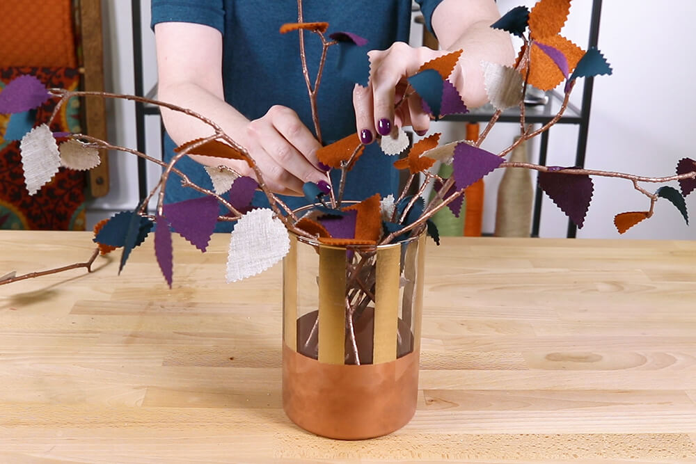 Fall Centerpiece with Leaves - Arrange