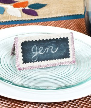 How to Make Place Cards with Chalkcloth