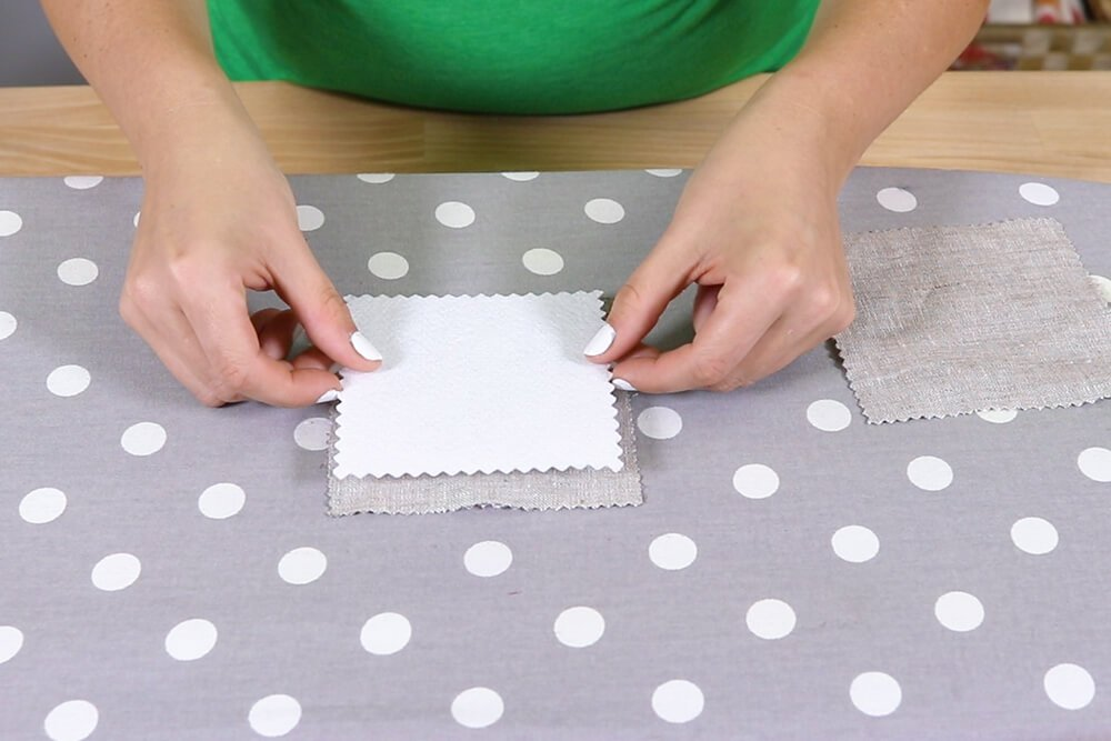 How to Make Place Cards - Fuse the stabilizer