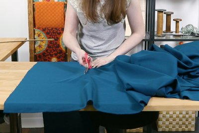 How to Make a Tablecloth - Cut fabric to correct length