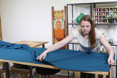 How to Make a Tablecloth - Fold one piece in half