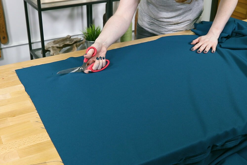 How to Make a Tablecloth - Cut off extra
