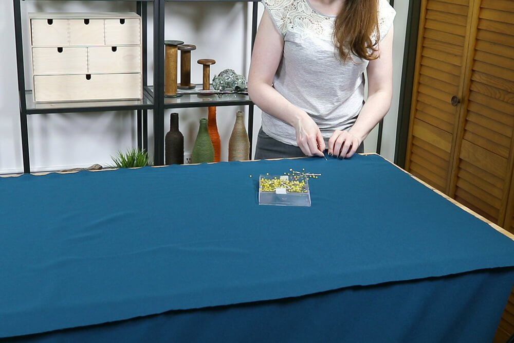 How to Make a Tablecloth - Pin pieces together